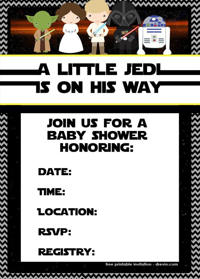 Cool Free Printable Star Wars Birthday Invitations