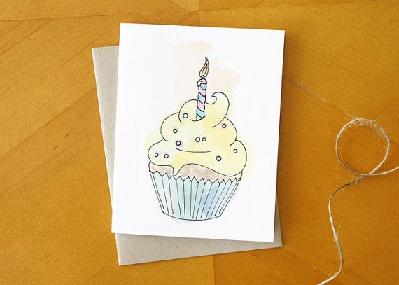 Yellow cupcake hand drawn birthday card hand by readymakerdesign yellow cupcake hand drawn birthday card hand by readymakerdesign bookmarktalkfo Gallery