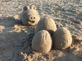 Derek McGann's Origami - Sand Sculptures
