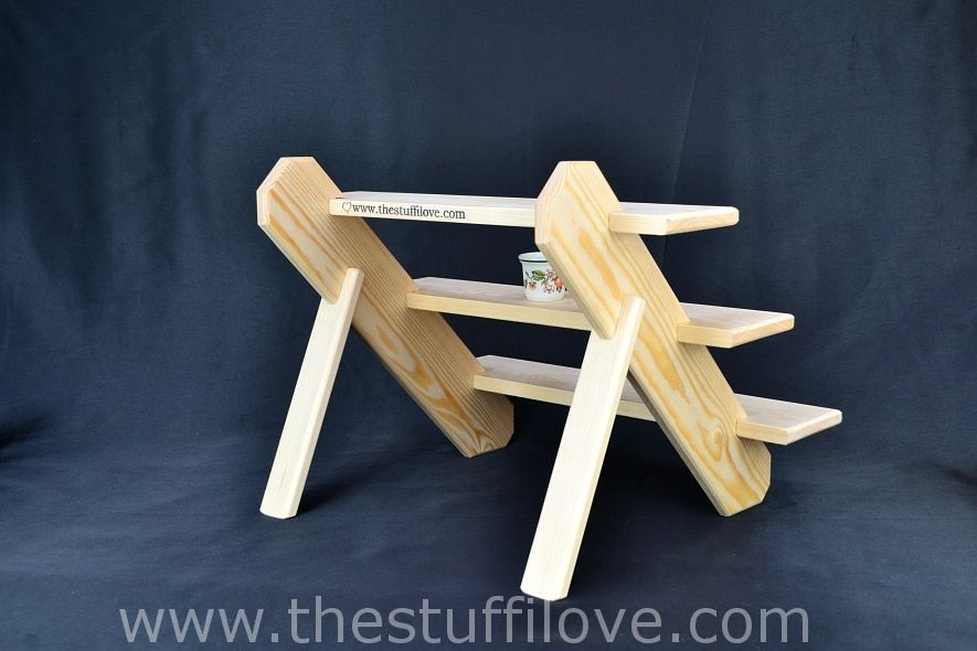 """Collapsible Wooden Craft Fair Display Stand. 3 Tier Standard 50cm//19.75/"""""""