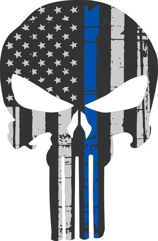 Punisher Skull American Flag Police Blue Line Decal Graphic Various Sizes Ebay Punisher Skull American Flag Punisher Skull Punisher