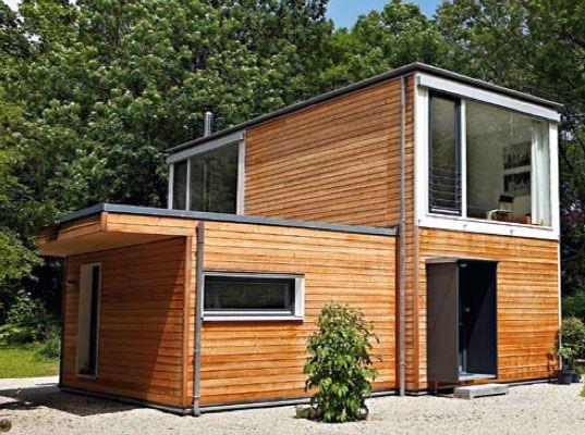 Casa Contemporánea Compacta De Madera Formada Con Módulos