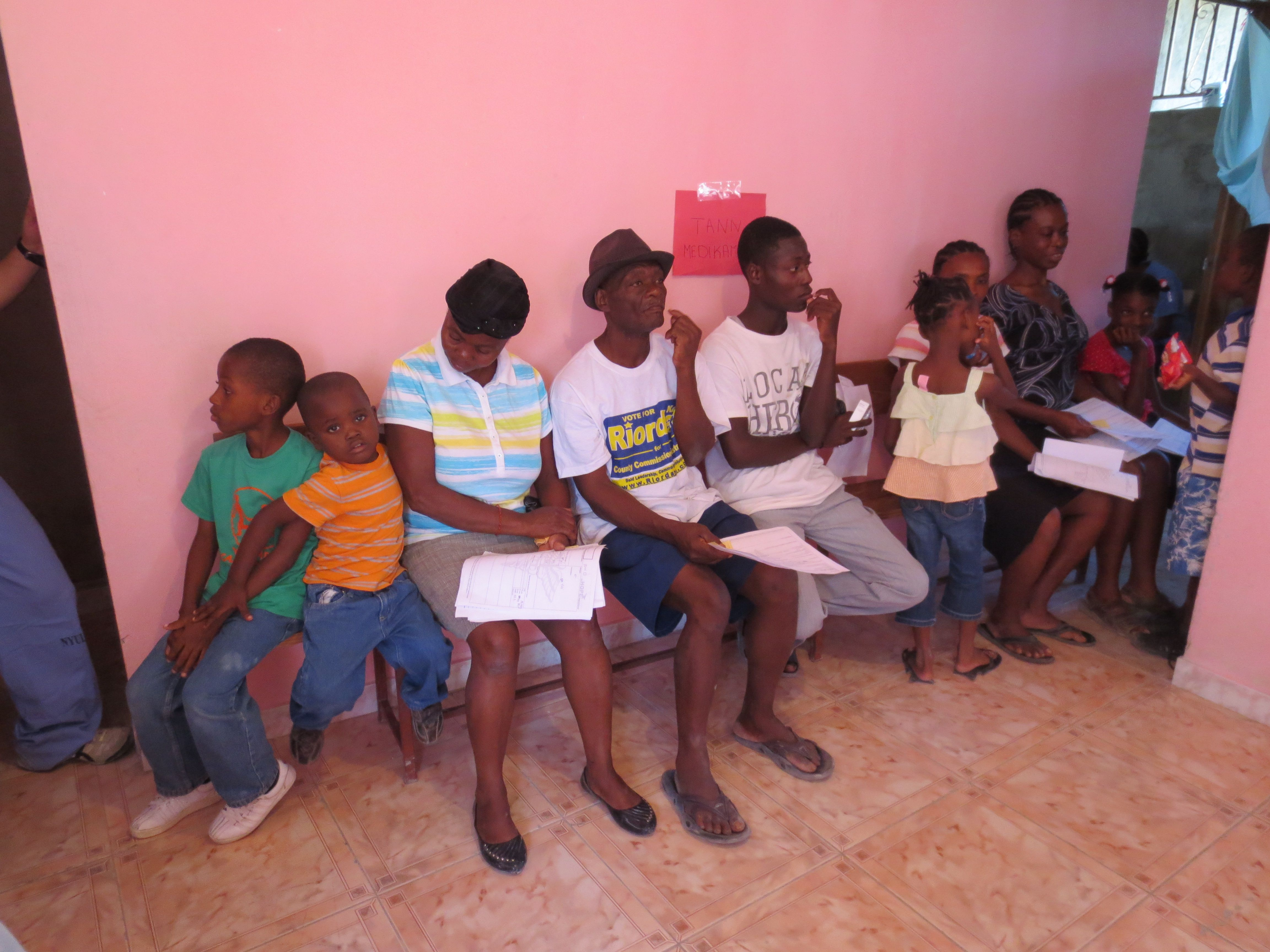 Haitians wait patiently for medical care medical care