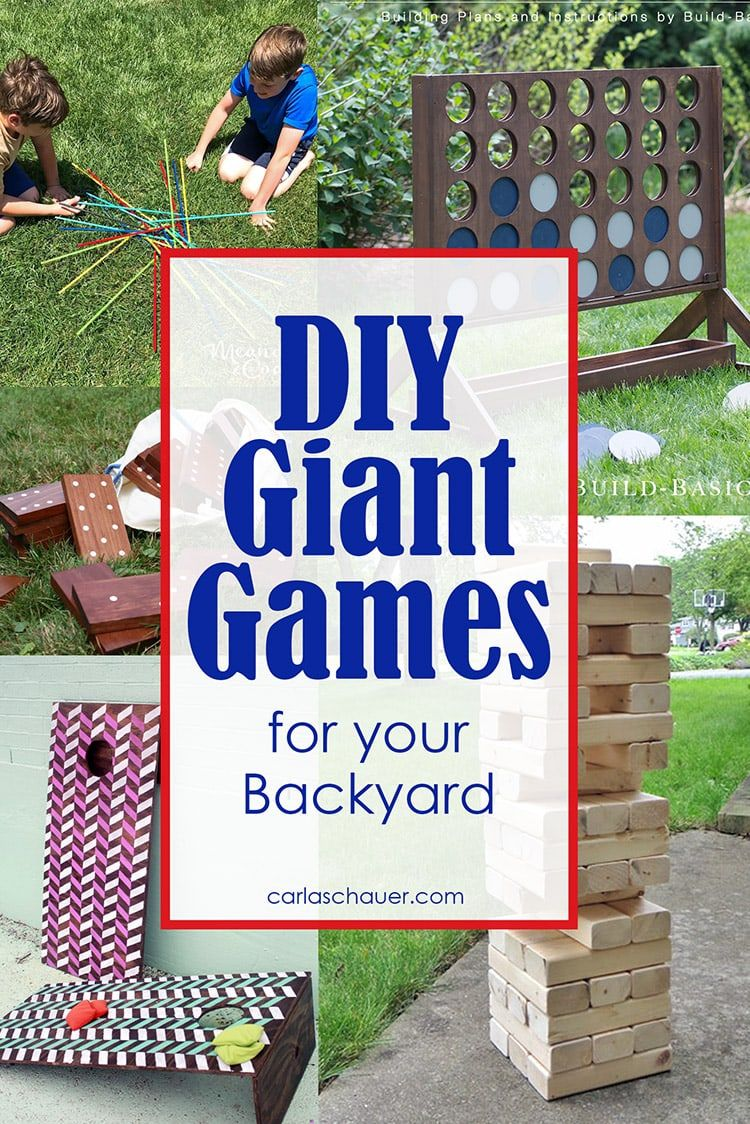 Diy Giant Backyard Games To Make Backyard Games Giant Yard