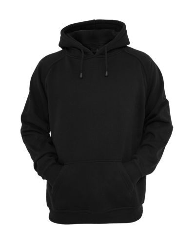 ae5b6d03039f9c Hooded-Plain-Black-Sweatshirt-Men-Women-Pullover-Hoodie -Fleece-Cotton-Blank-New