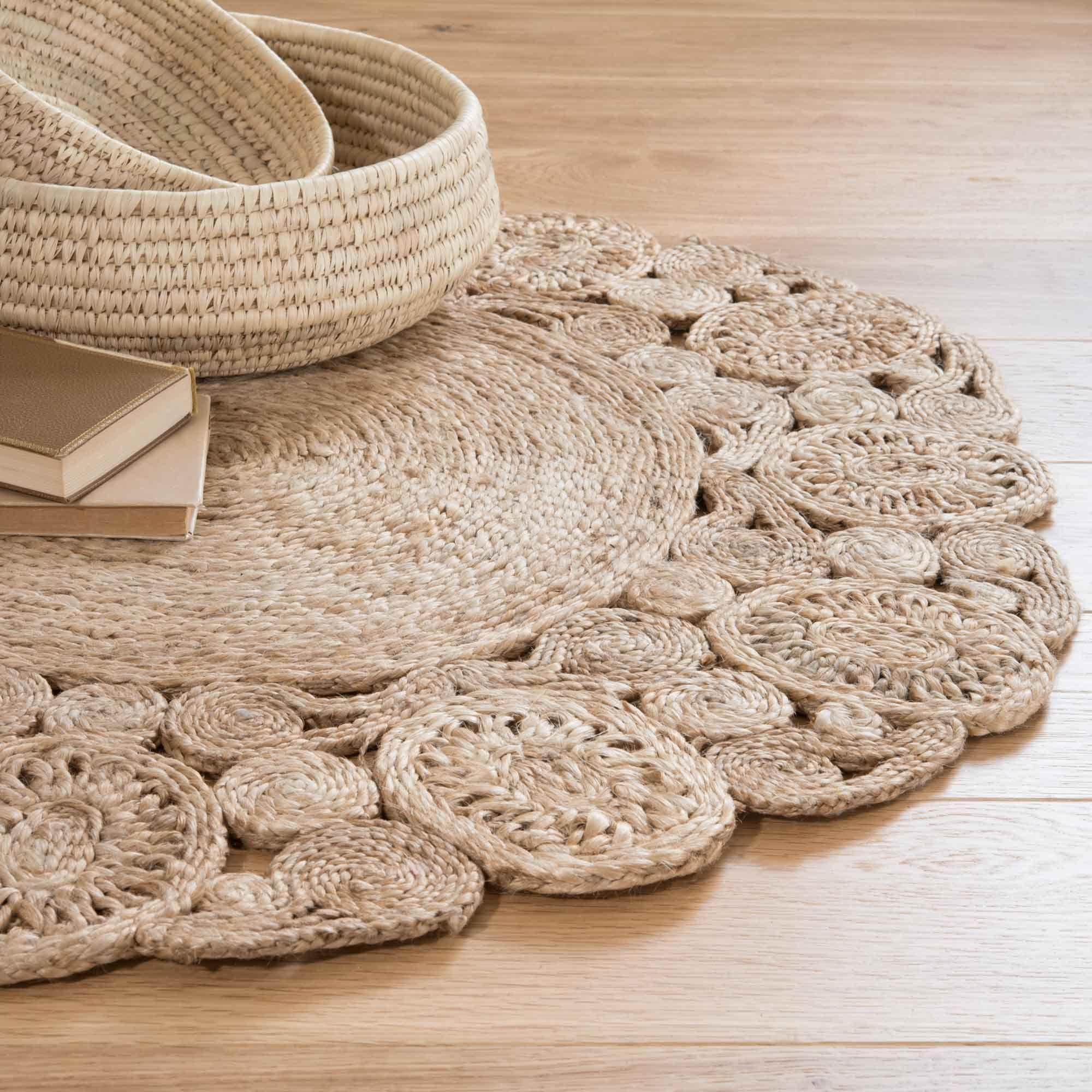 Alfombra redonda de yute d 90 cm kuta objetos decoraci n casa pinterest - Alfombras fibras naturales ...