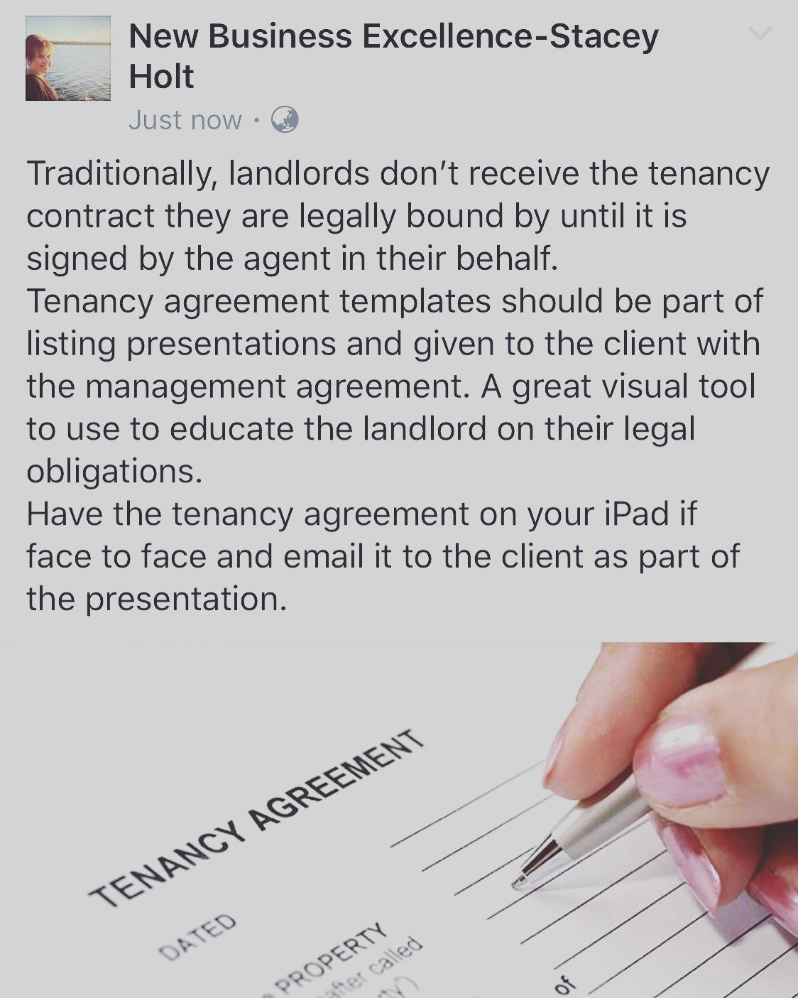 Traditionally Landlords DonT Receive The Tenancy Contract They