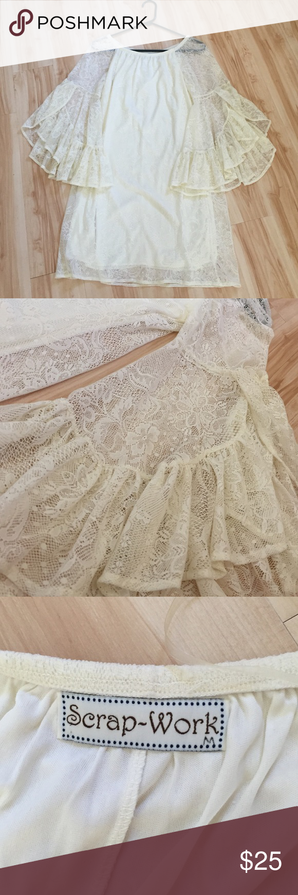 Lace dress vintage  Vintage Lace Dress Excellent condition Beautiful lace work with a