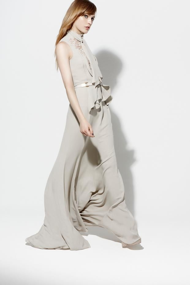 Beautiful elie saab resort 2013 #fashion #resort #prespring  grey gown #dress