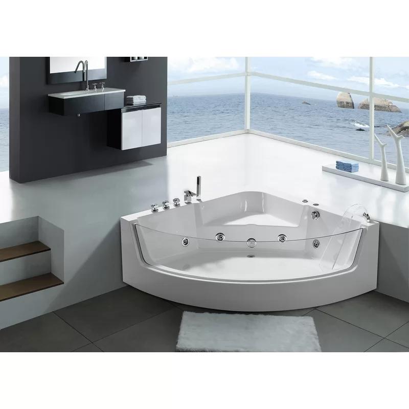 59 X 59 Corner Whirlpool Bathtub Whirlpool Bathtub Corner Jacuzzi Tub House Bathroom