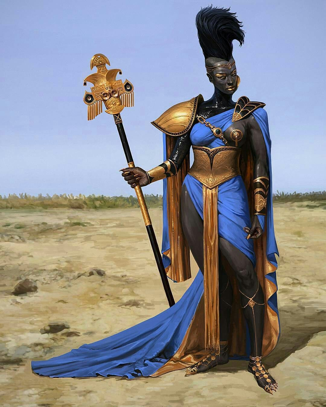 Black queen warrior warrior woman fantasy art women