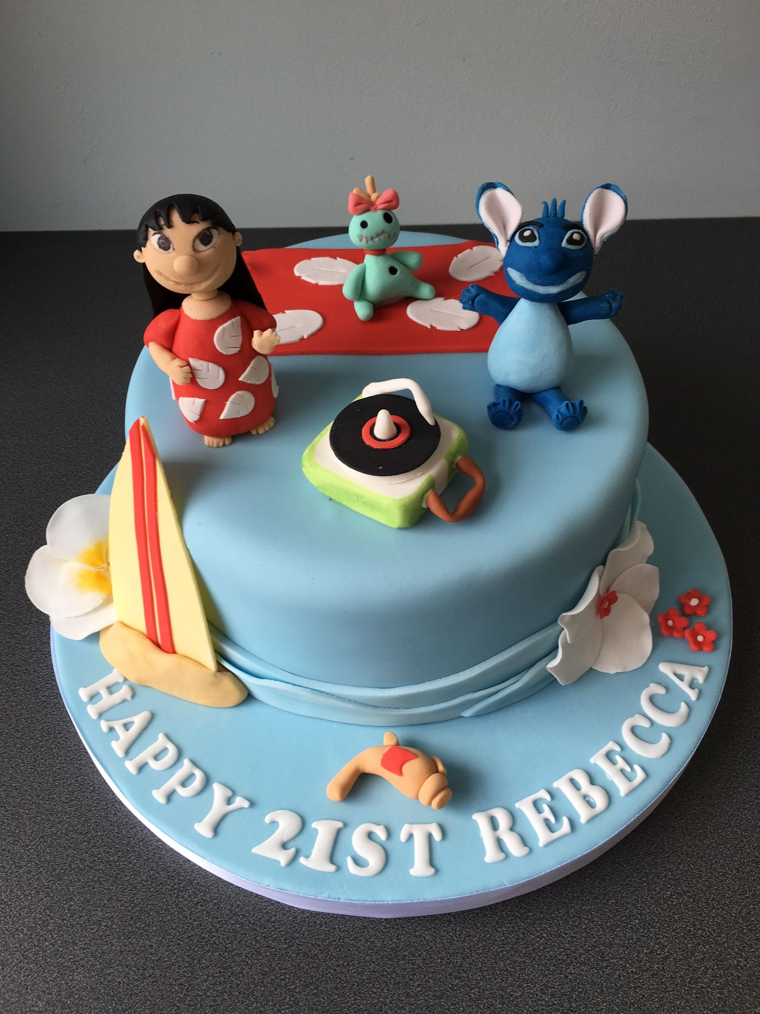 Lilo And Stitch 21st Birthday Cake Kids Birthdays Pinterest