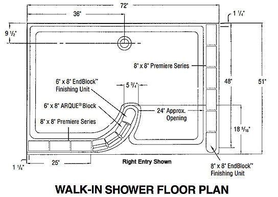 8547b1294d39793040124c057a4b2661 Jpg 544 387 Glass Block Shower Bathroom Floor Plans Walk In Shower