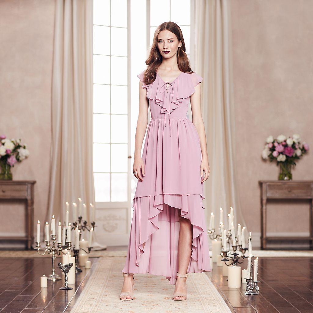 LC Lauren Conrad Runway Collection High-Low Ruffle Maxi Dress ...