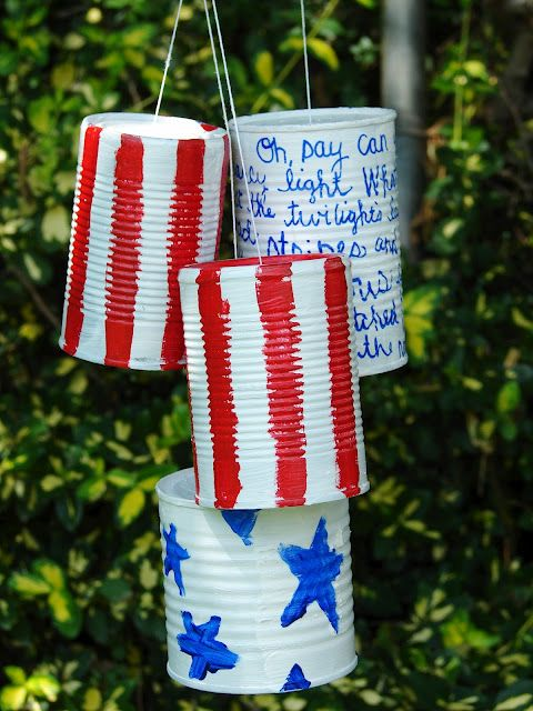 DIY Patriotic Can Clunkers