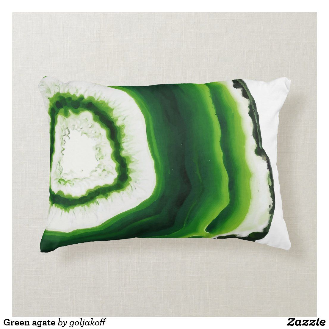 Green Agate Accent Pillow Zazzle Com In 2021 Pillows Green Decor Living Room Green