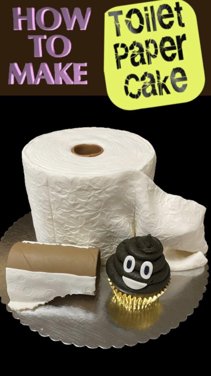 TOILET PAPER CAKE Empty Tube & Poo Cupcake