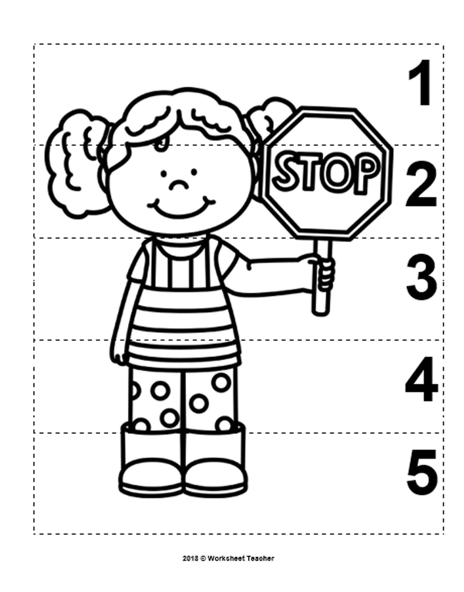 10 Community Helpers Number Sequence 1 5 Preschool Math B