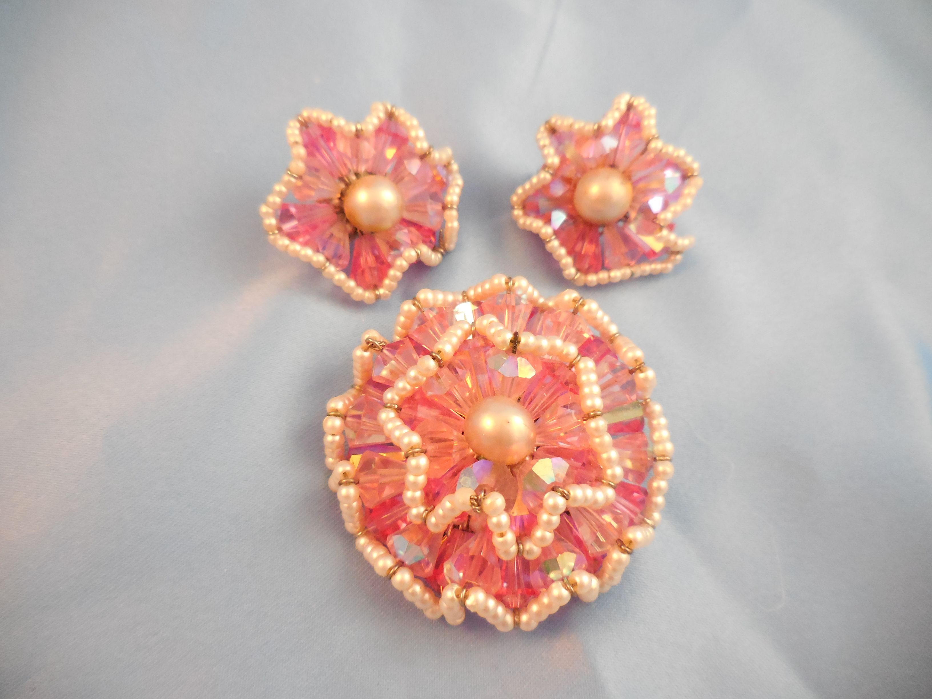 Vendome Pink and Pearl Ruffle Pin.  It was advertised in 1964