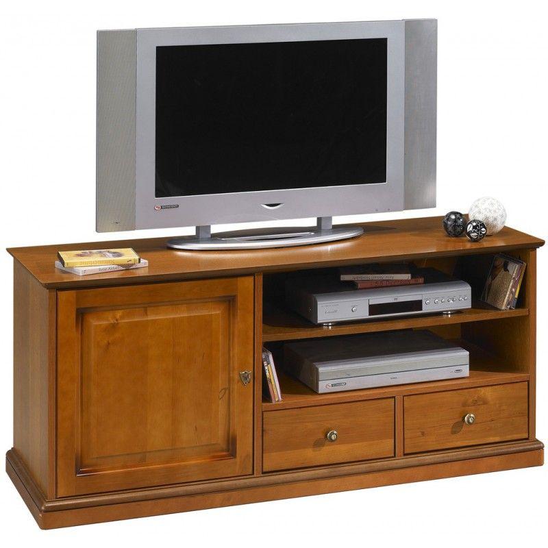 Meuble Tv Merisier Roulettes 135 Cm Beaux Meubles Pas Chers In 2020 Home Home Decor Furniture