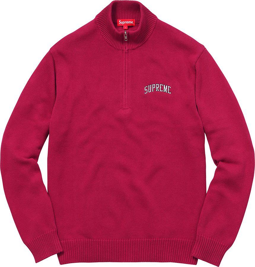 96256df9f Supreme Zip Up Polo Sweater Half Zip Sweaters