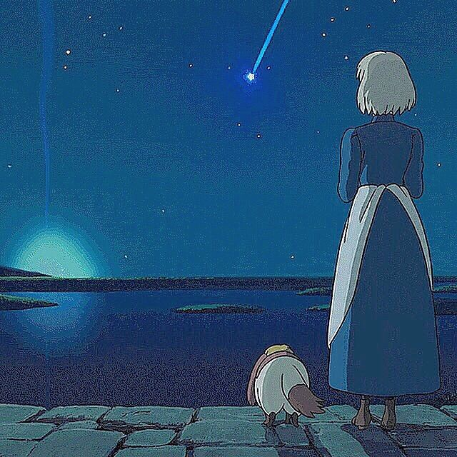 むぎさんはinstagramを利用しています ハウルの動く城 ハウル ソフィー ヒン 流れ星 星 星空 夜空 綺麗 青い ジブリ ジブリ好きな人と繋がりたい いいね返し ハウル ジブリ ハウルの動く城