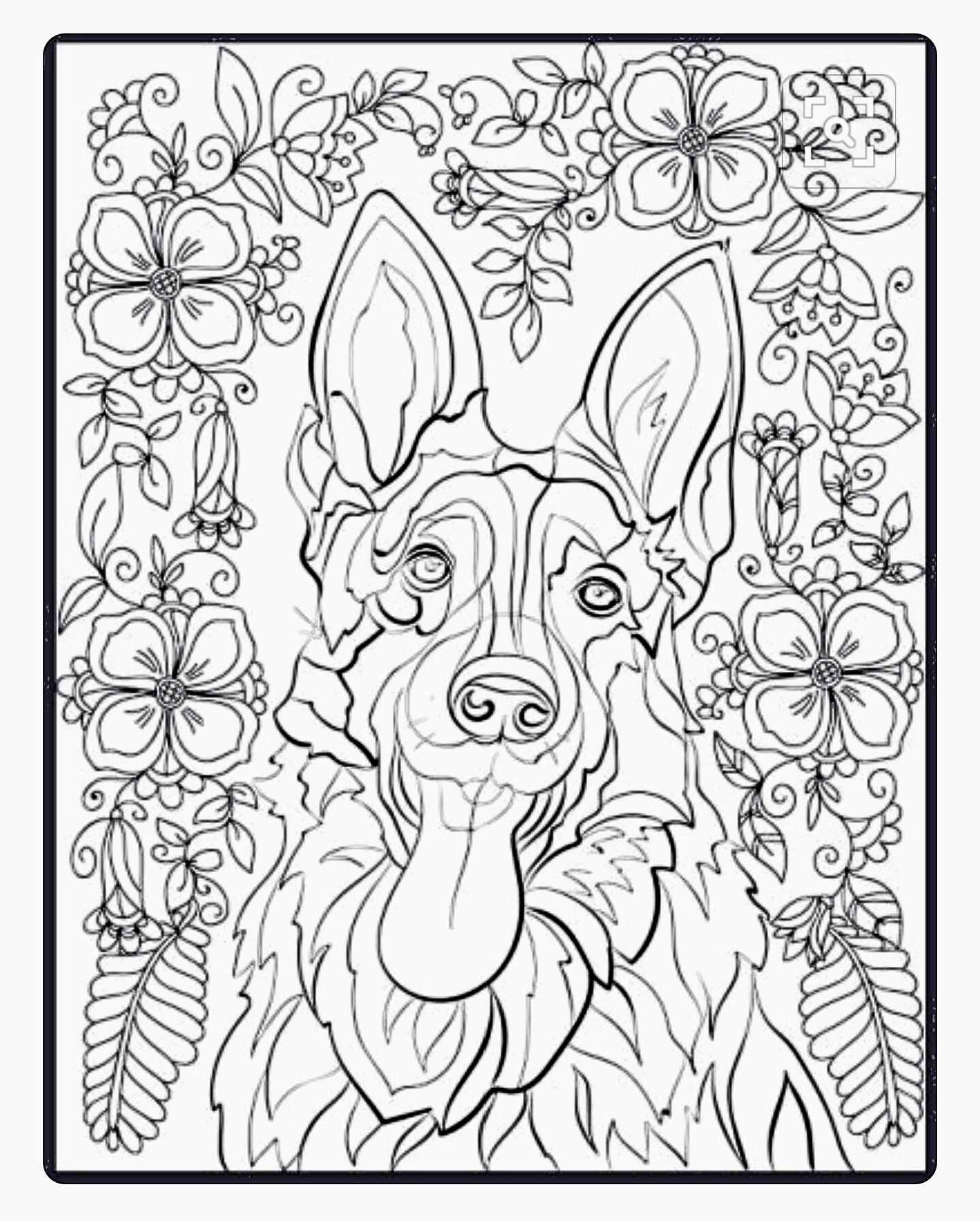 German Shepherd Coloring Page Horse Coloring Pages Animal Coloring Pages Dog Coloring Page