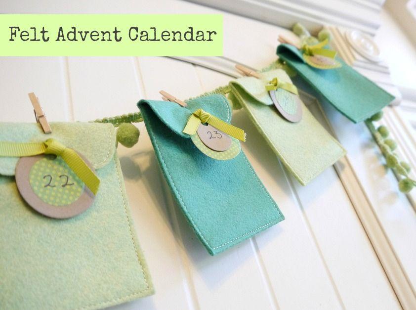 How to make an Advent Calendar Advent calendars, Felting and Felt