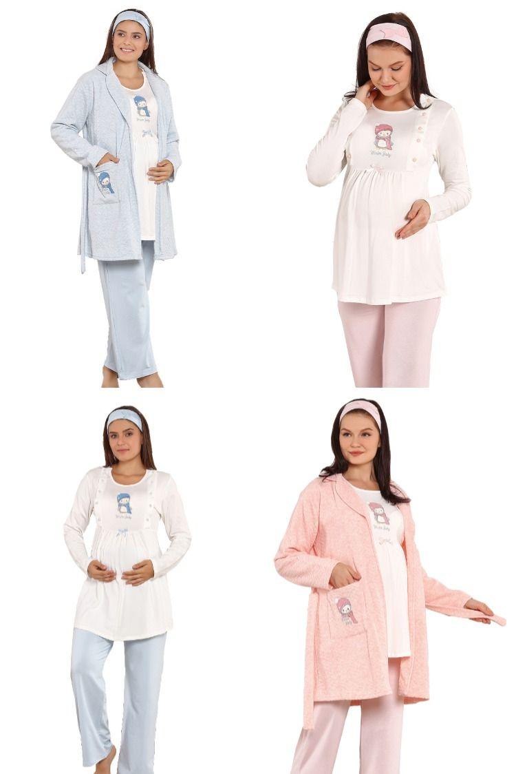 Hamile-loğusa giyim emzirmeli pijama setleri