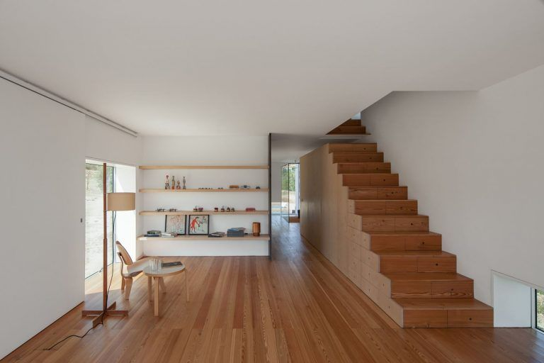 Fonte Boa House In Portugal By Joao Mendes Ribeiro In 2020 House Contemporary House Staircase Design