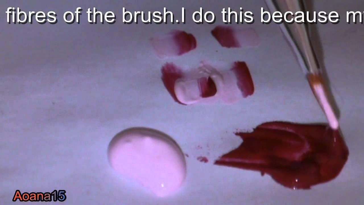 One stroke NAIL ART TECHNIQUE ,pink flower video nail art tutorial ...
