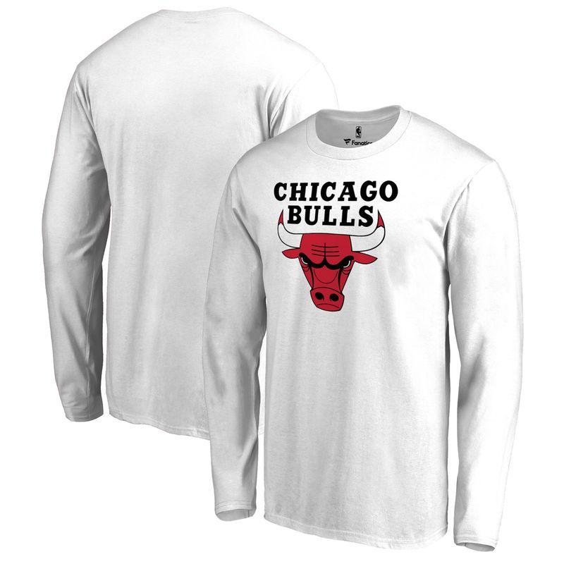 19445e5e Chicago Bulls Fanatics Branded Big & Tall Team Primary Logo Long Sleeve T- Shirt - White