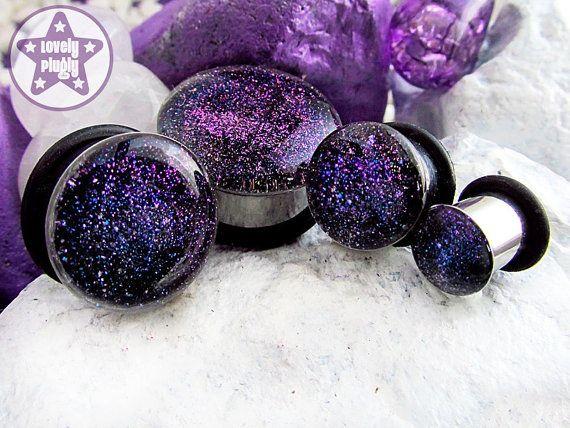 Double Flare Plugs Solid Ear Gauge Body Jewelry Clear Blue Red Black Purple