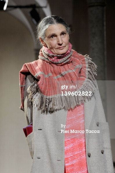 News Photo: Benedetta Barzini walks the runway at the Daniela…