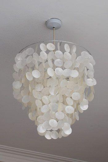 Shell Lamp Shade: Capiz Lamp Shade,Lighting