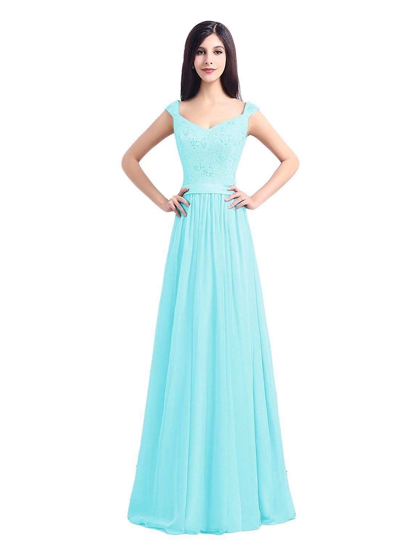 OYISHA Women\'s Prom Dress Long Bridesmaid Chiffon Evening Dresses ...