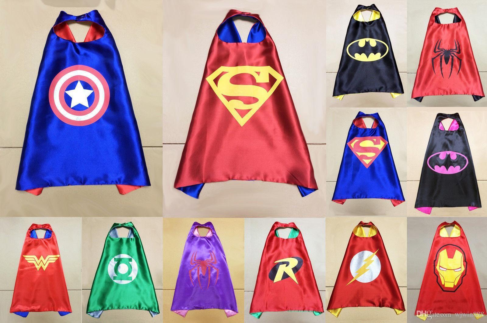 New Print Logo Custom superhero cape Boys Costume Superhero Fancy ...