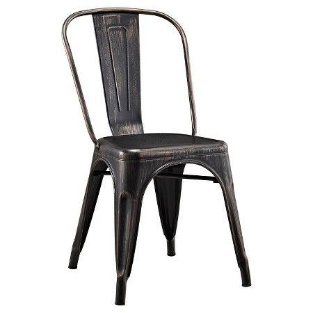 walker edison metal café chair antique black target chairs