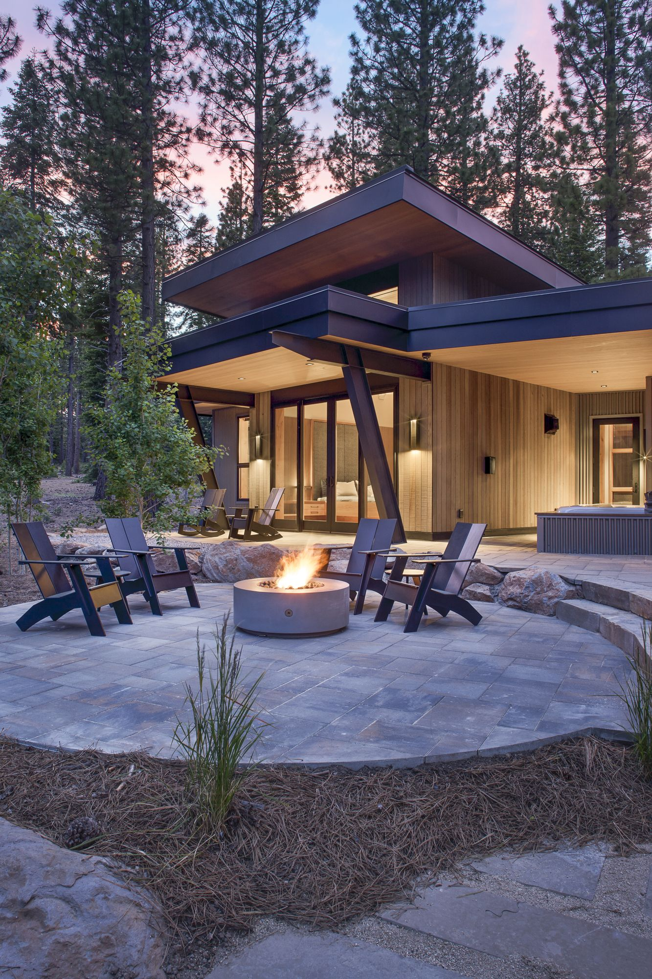Incredible Fire Feature Hawthorne House Architect Building A House