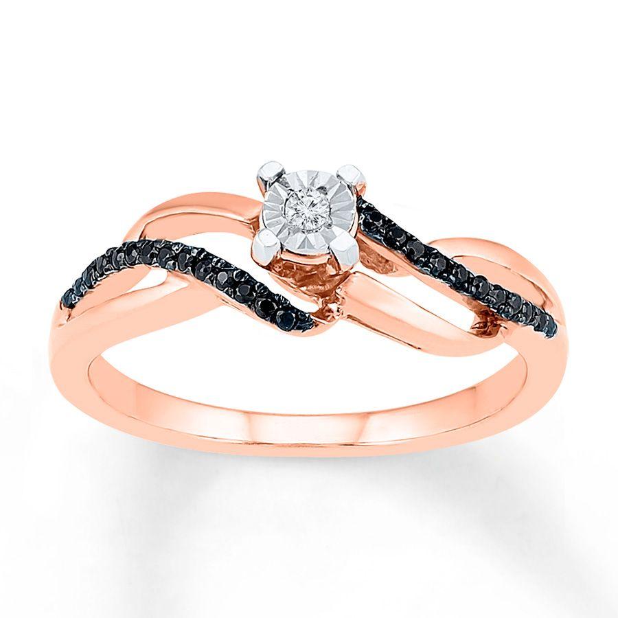 Artistry Diamonds Diamond Necklace 1/6 ct tw Blue/White 10K Rose Gold KutnEL