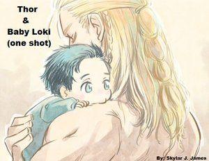 Thor and Baby!Loki (Artist: Skylar James) | Comic love | Loki thor