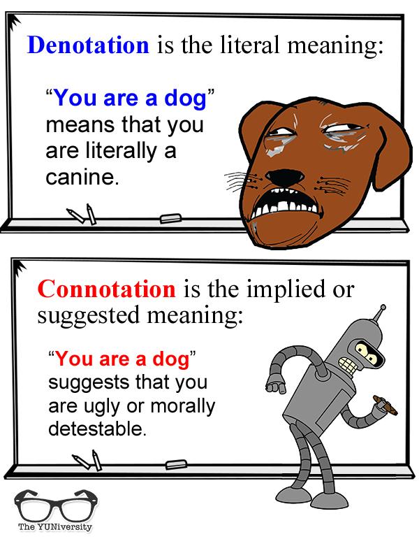 denotation connotation essay