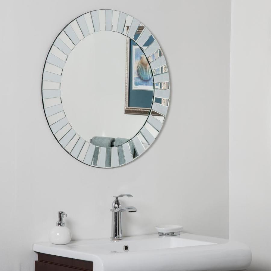 Decor Wonderland 27 5 In Silver Round Frameless Bathroom Mirror Lowes Com In 2021 Modern Bathroom Mirrors Round Mirror Bathroom Mirror Wall Bathroom [ 900 x 900 Pixel ]