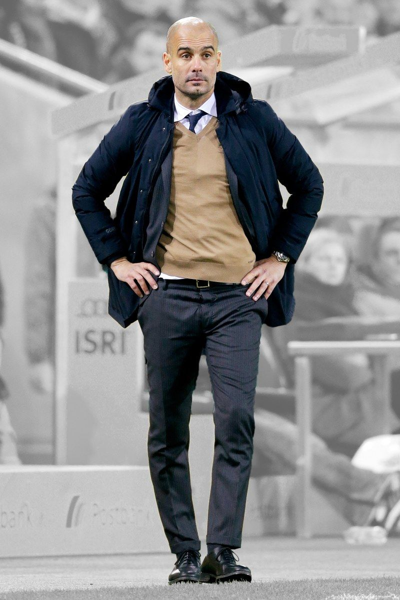 Pep Guardiola Style Mens Outfits Blue Jacket Outfits Men