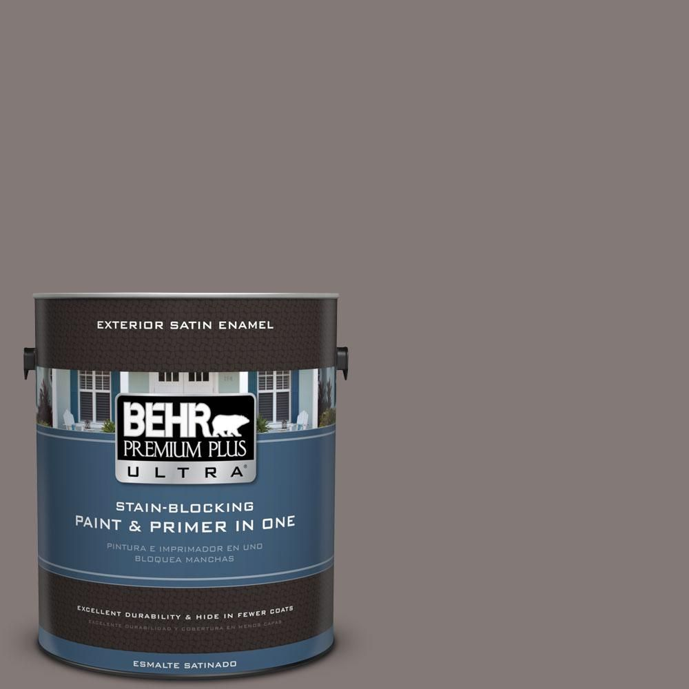 N140 5 Complex Gray Satin Enamel Exterior Paint