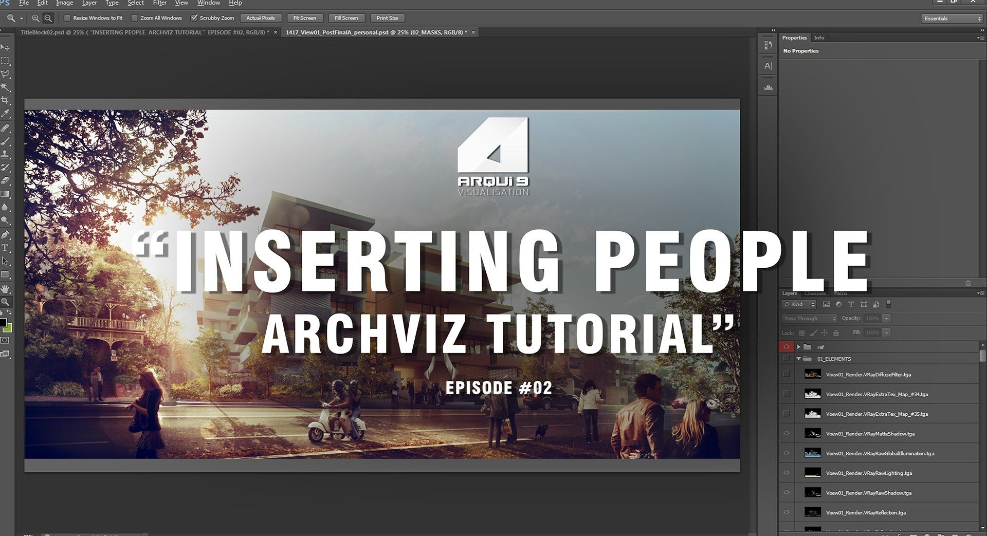 After Many Requests A Short Tutorial On How To Insert People Into Architecture Visualization Photoshop Architecture Visualization Tutorial Photoshop Tutorial