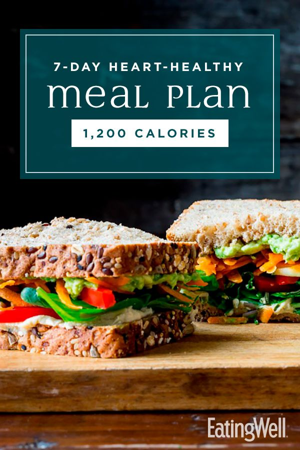 21 Day Fix Meal Plan 500 Calorie: 7-Day Heart-Healthy Meal Plan: 1,200 Calories