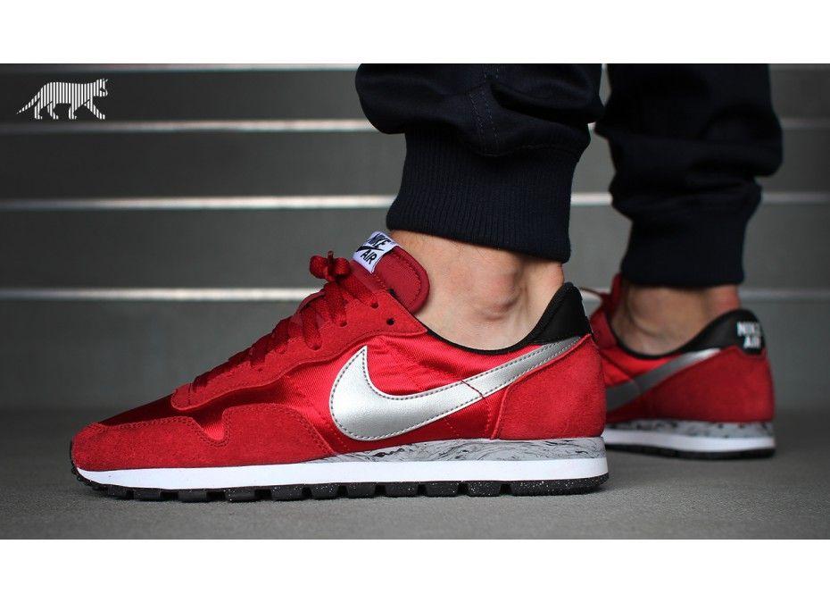 Nike Air Pegasus 83 (University Red / Metallic Silver - Gym Red)