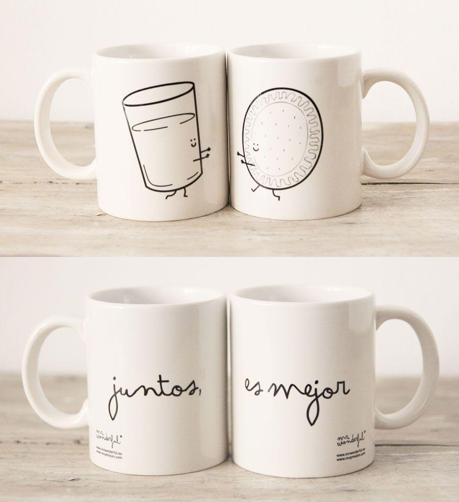 """Mr Wonderful"" mugs (together is better) http://www.mrwonderfulshop.es/es/tassa-t-x27-estimo-i-et-requetestimo.html"