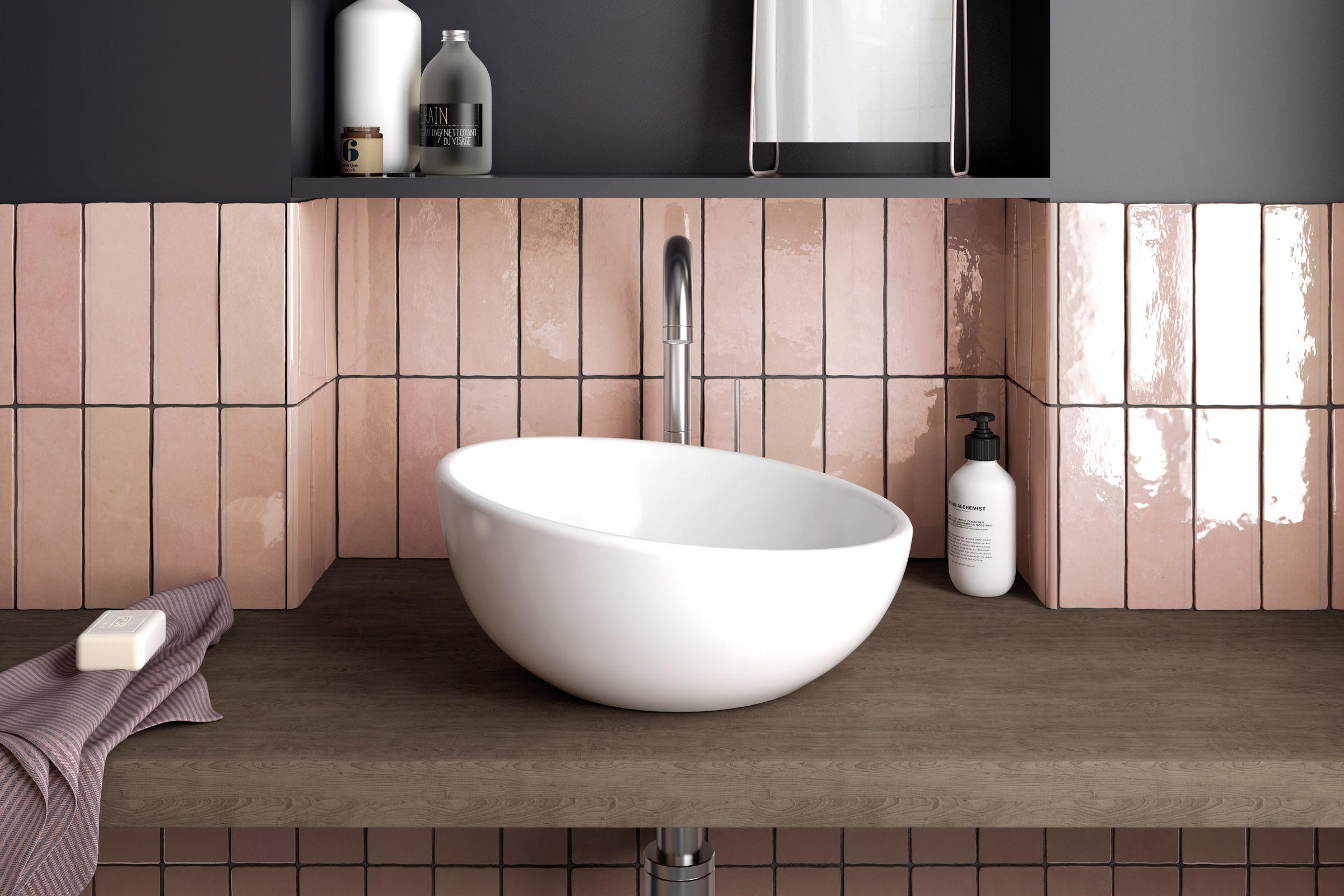 Cloe 2 5 X 8 Glossy Wall Tile In Pink 10 64 Sqft Ctn Walmart Com In 2020 Wall Tiles Bathroom Renovation Cost Colorful Interior Design